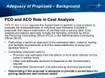 adequacy of proposals background1