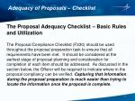 adequacy of proposals checklist2