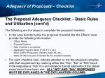 adequacy of proposals checklist3