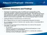 adequacy of proposals checklist5