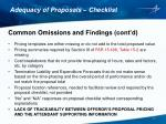 adequacy of proposals checklist6