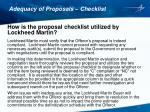 adequacy of proposals checklist7