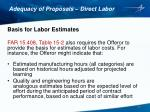 adequacy of proposals direct labor2