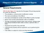 adequacy of proposals general reqmts1