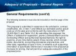 adequacy of proposals general reqmts3