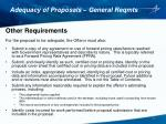 adequacy of proposals general reqmts5