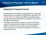 adequacy of proposals general reqmts7