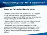 adequacy of proposals mat l subcontracts2