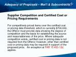 adequacy of proposals mat l subcontracts5