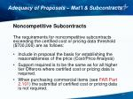 adequacy of proposals mat l subcontracts6
