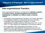 adequacy of proposals mat l subcontracts8
