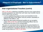 adequacy of proposals mat l subcontracts9