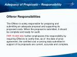 adequacy of proposals responsibility1