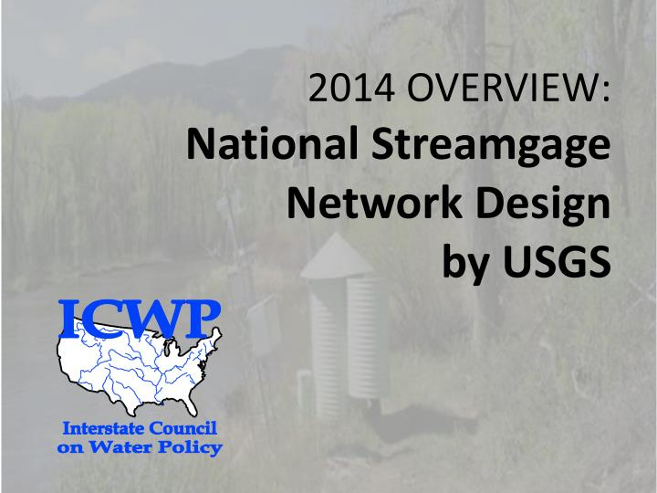 2014 overview national streamgage network design by usgs n.