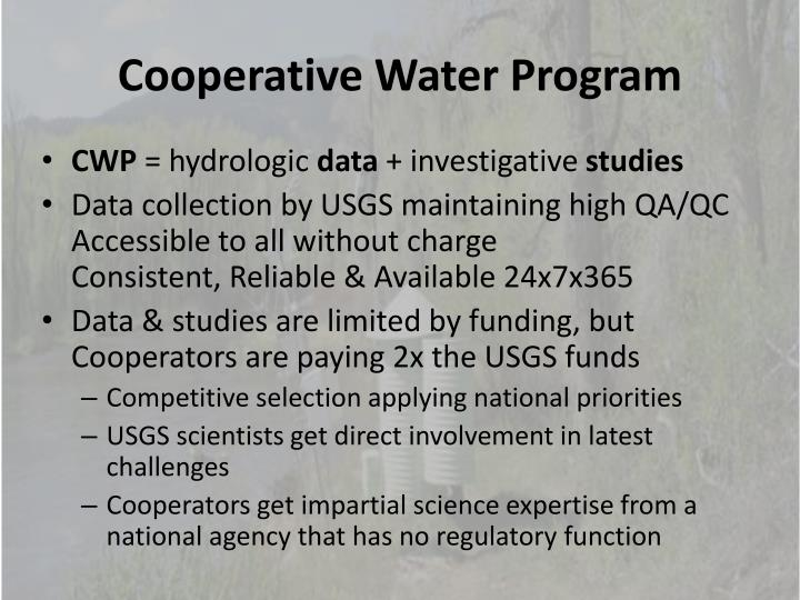 Cooperative Water Program