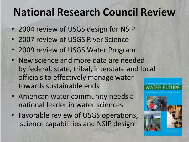 National Research Council Review