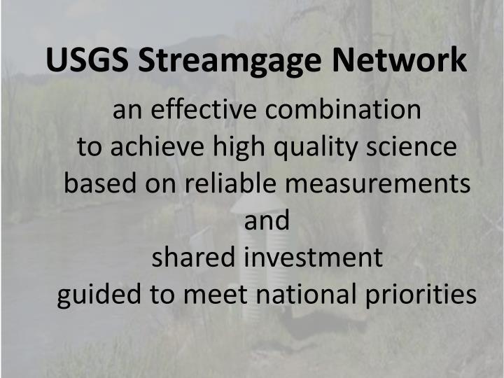 USGS Streamgage Network