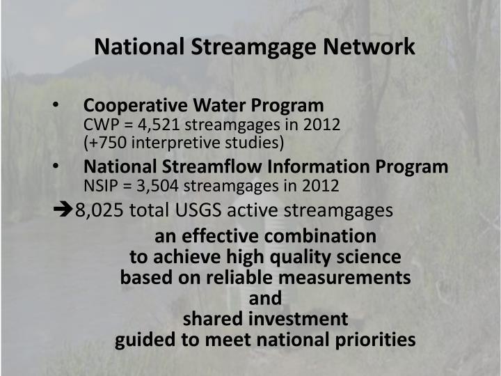 National Streamgage Network