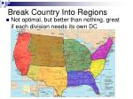 break country into regions