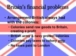 britain s financial problems