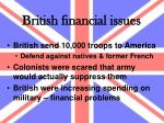 british financial issues