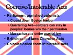 coercive intolerable acts