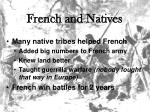 french and natives