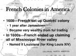 french colonies in america