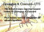 lexington concord 17751