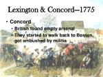 lexington concord 17753