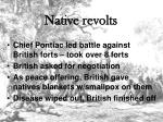 native revolts