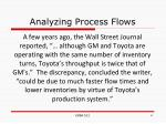 analyzing process flows