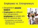 employees vs entrepreneurs