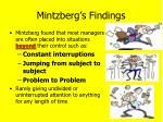 mintzberg s findings