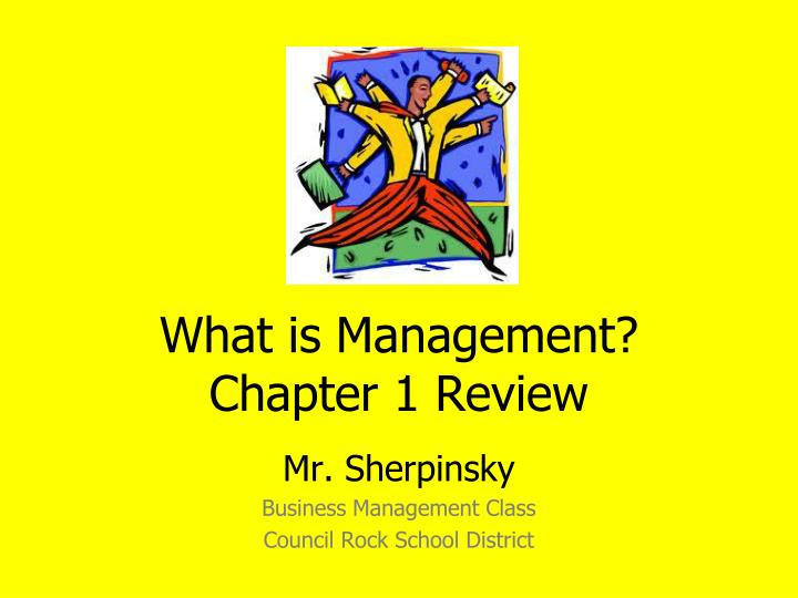 what is management chapter 1 review n.