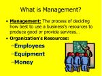 what is management