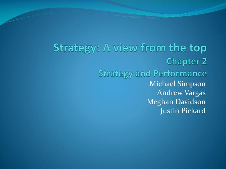 strategy a view from the top chapter 2 strategy and performance n.