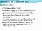 strategy and organizational change cont1