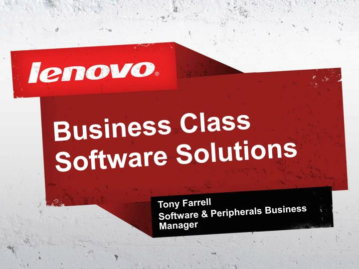 business class software solutions n.