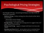 psychological pricing strategies
