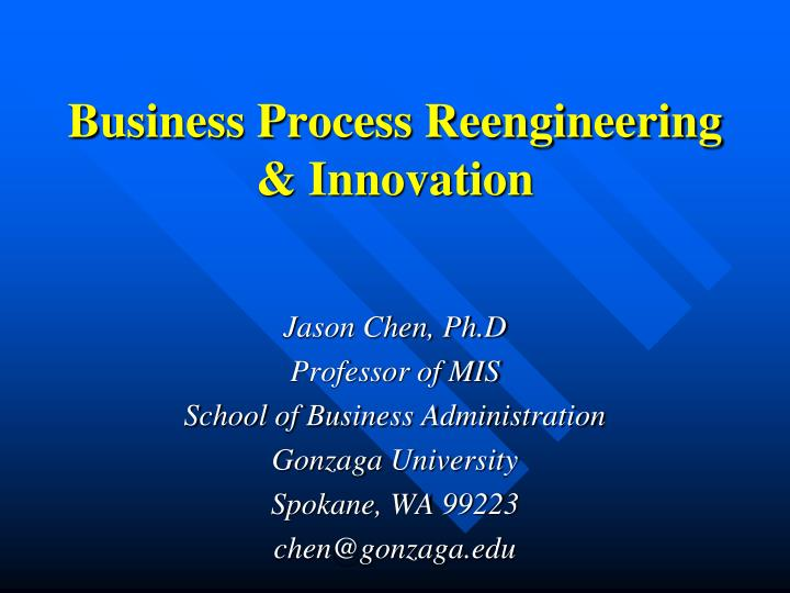 business process reengineering innovation n.