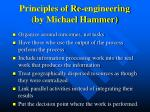 principles of re engineering by michael hammer