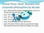 strand three work business and corporate philosophies by decade1