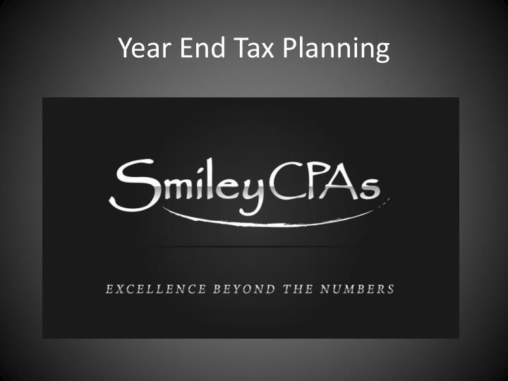 year end tax planning n.