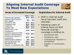 aligning internal audit coverage to meet new expectations