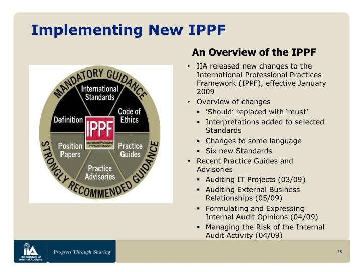 Implementing New IPPF