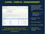 claims form 2 reimbursement