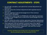 contract adjustments steps