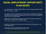 equal employment opportunity plan eeop
