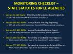 monitoring checklist state statutes for le agencies